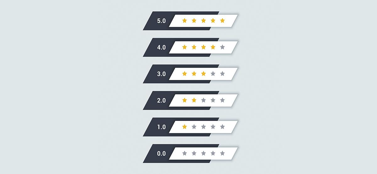 Mejora la presentación de informes con el sistema de calificación con estrellas en Excel